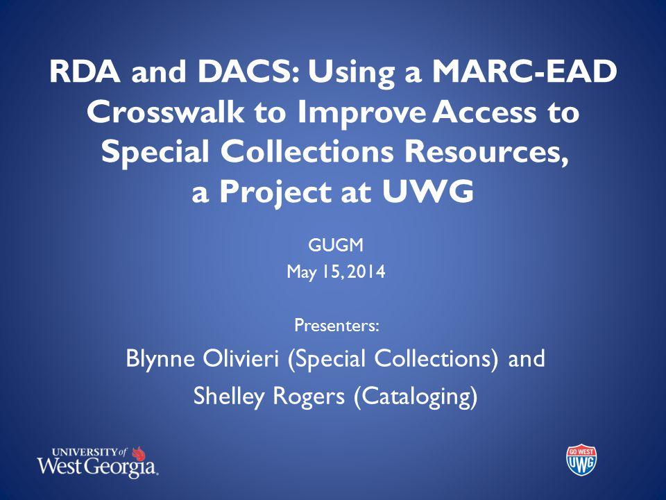 DACS Describing Archives: A Content Standard Second edition adopted Jan.