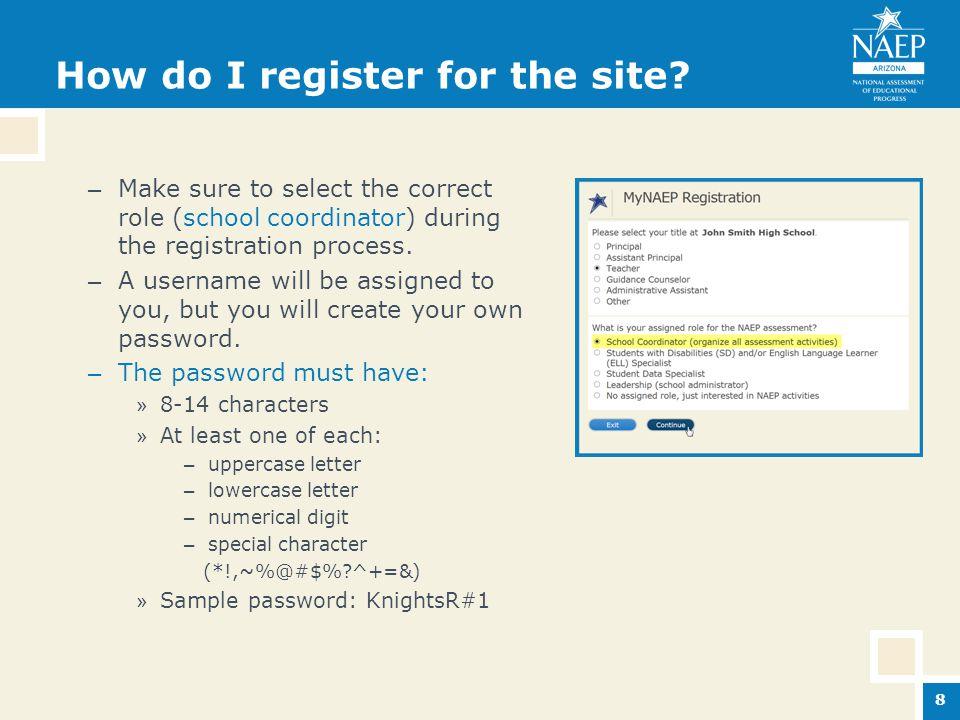 How do I register for the site.