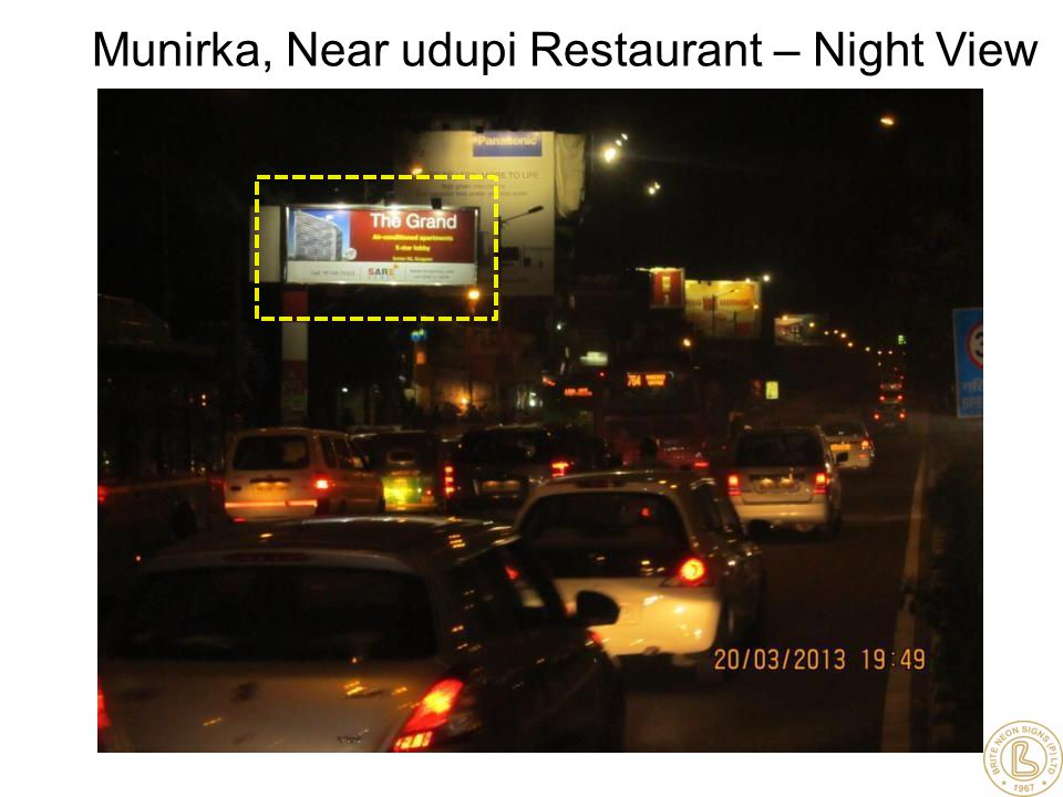 Munirka, Near udupi Restaurant – Night View