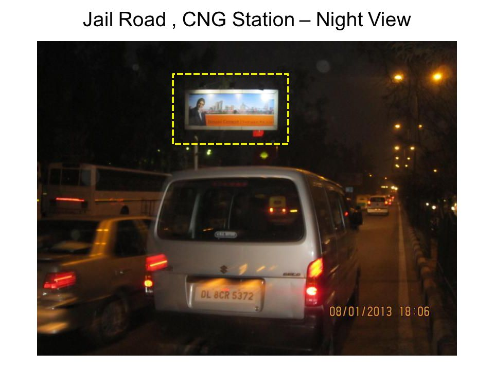 Jail Road, CNG Station – Night View