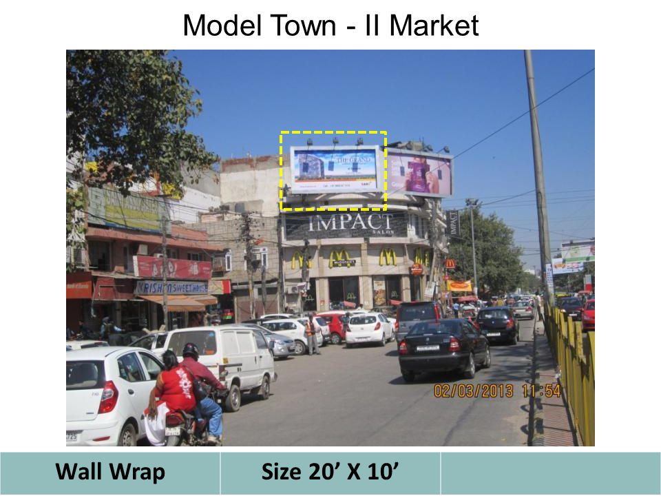 Model Town - II Market Wall WrapSize 20' X 10'