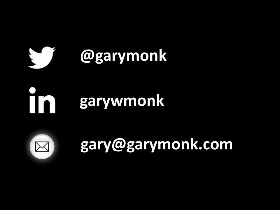 @garymonk garywmonk gary@garymonk.com