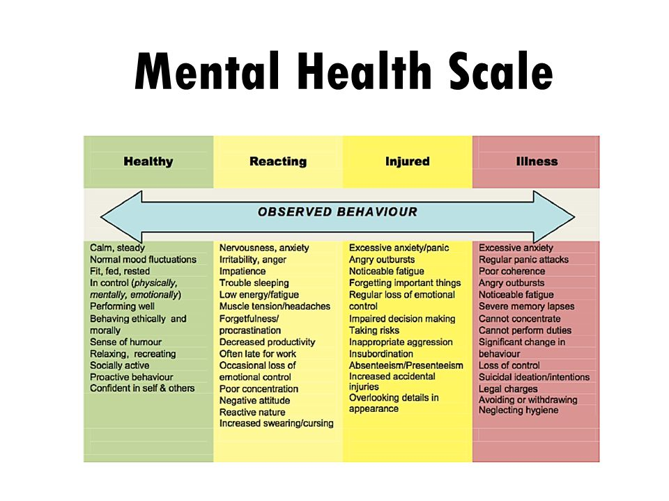 Mental Health Scale