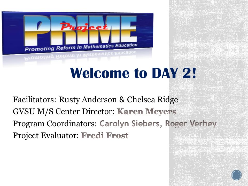 Welcome to DAY 2!