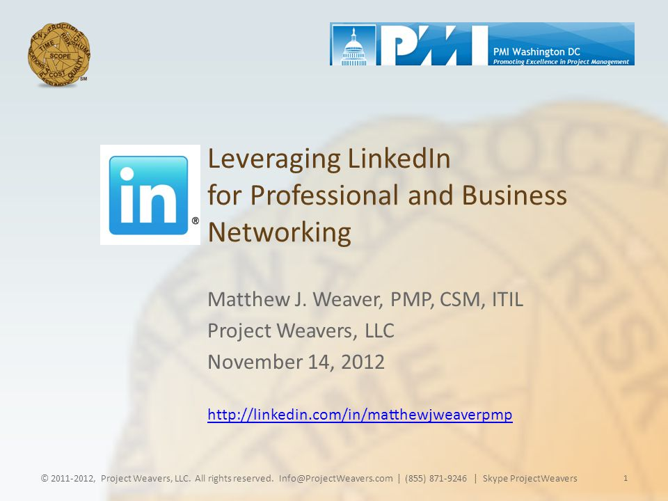 Leveraging LinkedIn for Professional and Business Networking Matthew J.