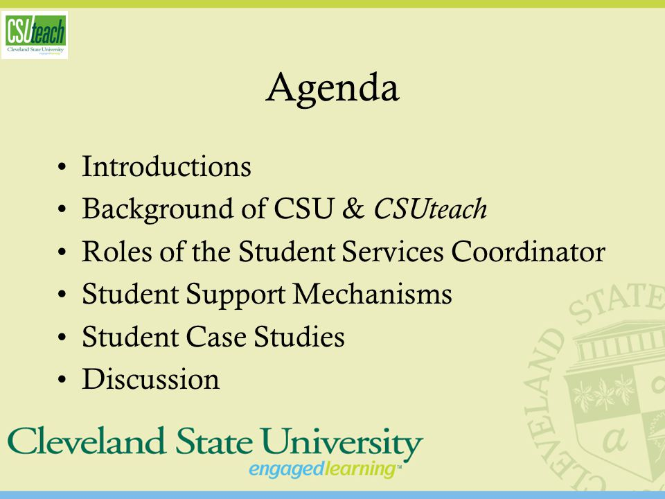 Student Support Mechanisms Recruitment –Student Expectations & Dispositions Advising –Academic Progress Reports –Semester Updates Financial Awareness –Internship and scholarship placements –Loan Forgiveness Seminar Eligibility –Eligibility Checklists –GPA Calculators –Concern Conferences –Database –Exit Interviews –Licensure Procedures Curriculum Development –Program Checklists –OAE prep