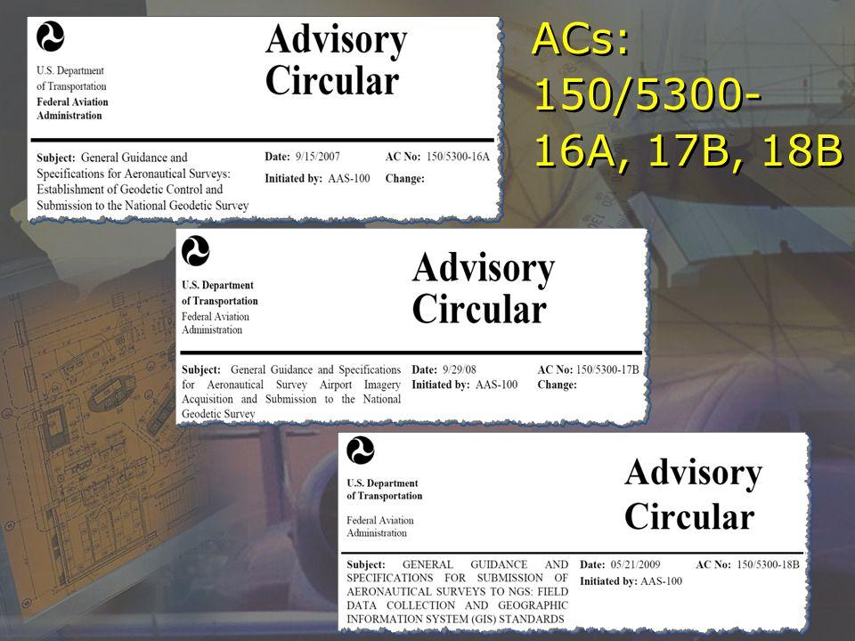 ACs: 150/5300- 16A, 17B, 18B