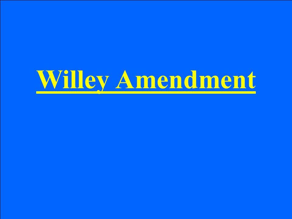 Willey Amendment
