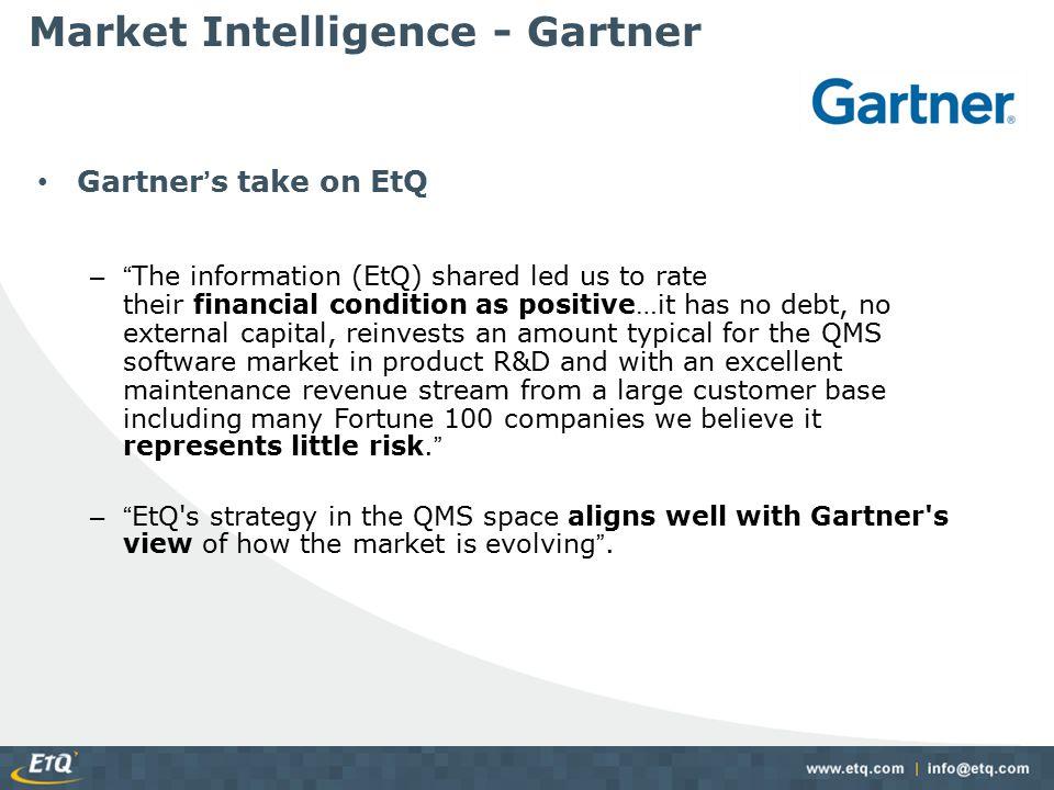 Market Penetration EtQ customers come from many market segments…