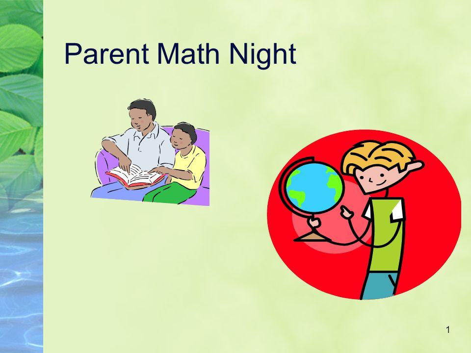 1 Parent Math Night