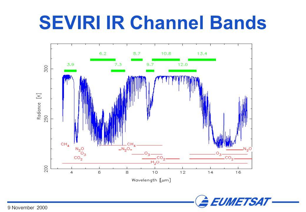 9 November 2000 SEVIRI IR Channel Bands