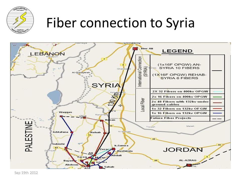 Fiber connection to Syria Sep 19th 2012