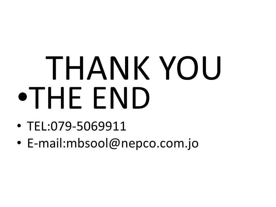 THANK YOU THE END TEL:079-5069911 E-mail:mbsool@nepco.com.jo