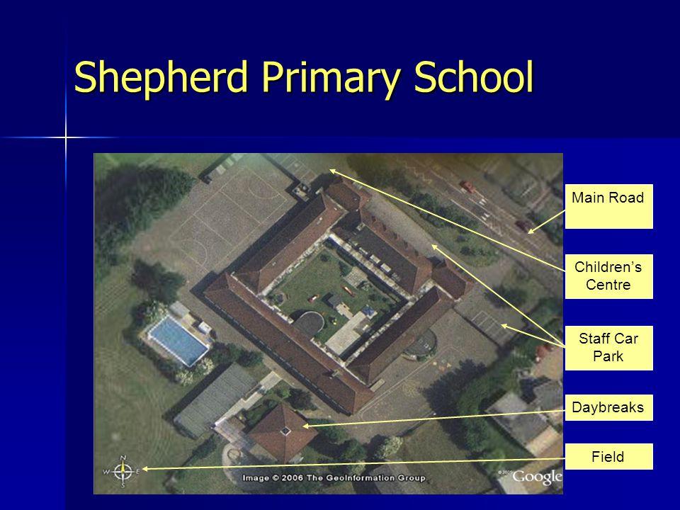 Staff Car Park Children's Centre Daybreaks Main Road Field Shepherd Primary School