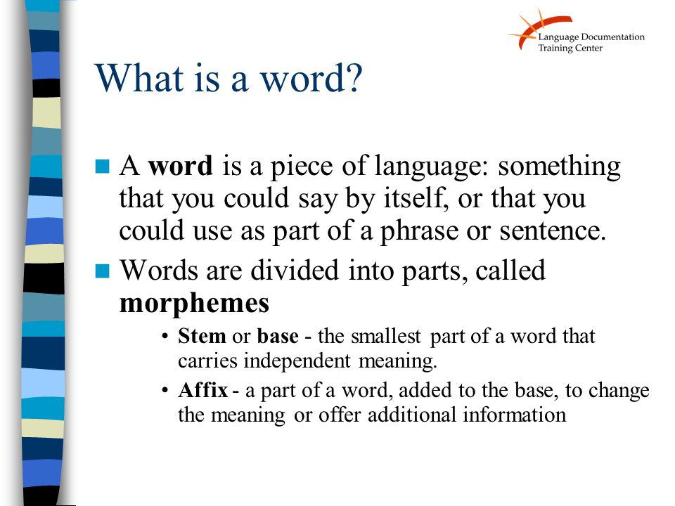 What is a word.