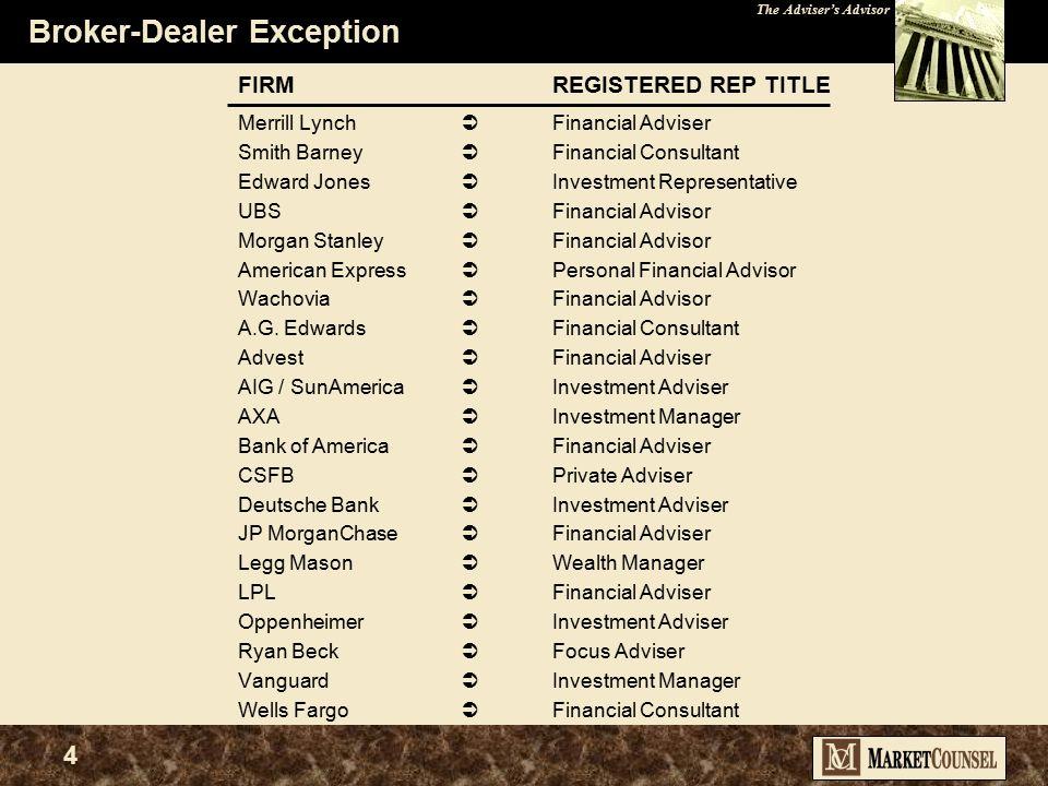 The Adviser's Advisor 14 State vs. Federal Regulation