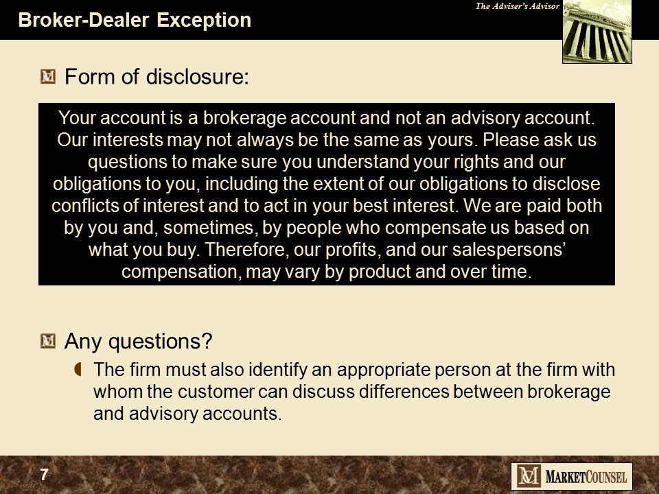 The Adviser's Advisor 27 SEC Maintains Their Focus