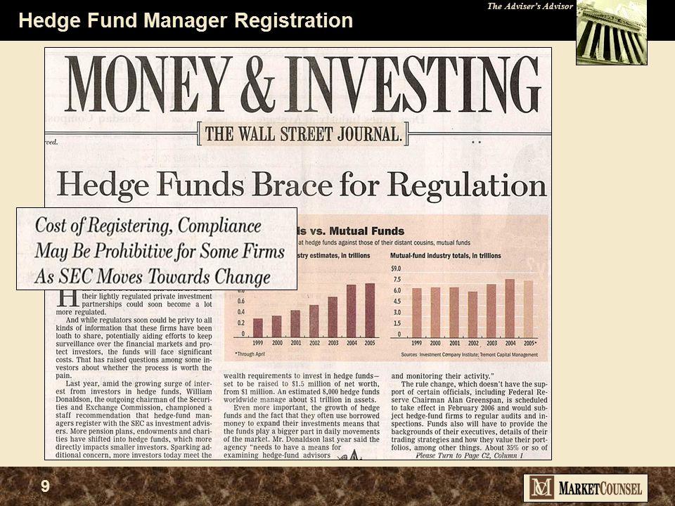 The Adviser's Advisor 9 Hedge Fund Manager Registration