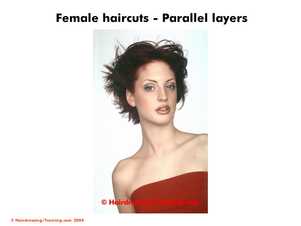 © Hairdressing-Training.com 2004 Female haircuts - Parallel layers