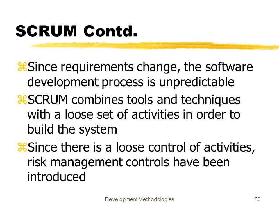Development Methodologies26 SCRUM Contd.