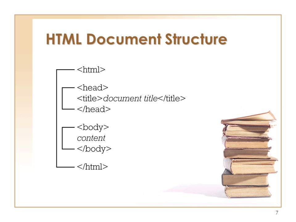 7 HTML Document Structure