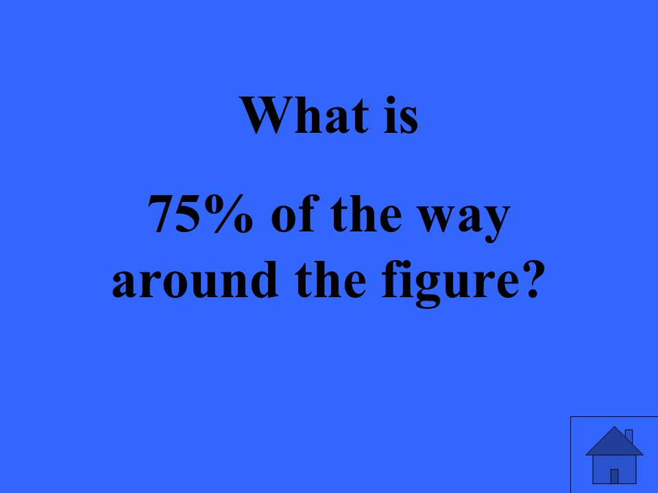 What is 75% of the way around the figure