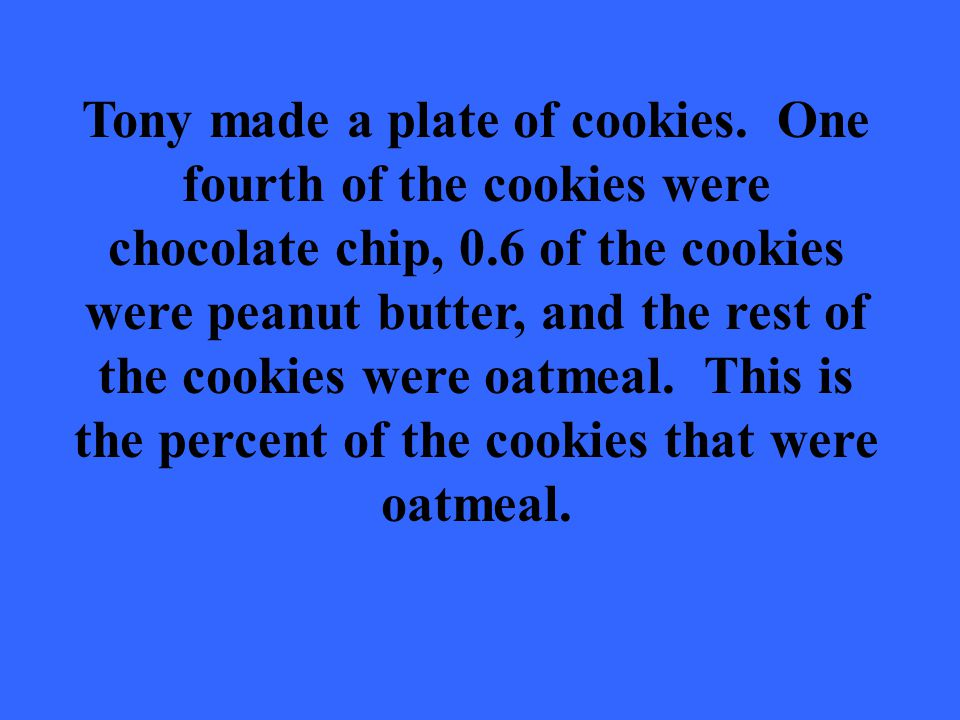 Tony made a plate of cookies.