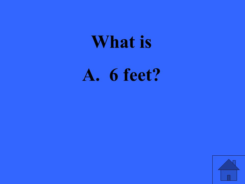 What is A. 6 feet