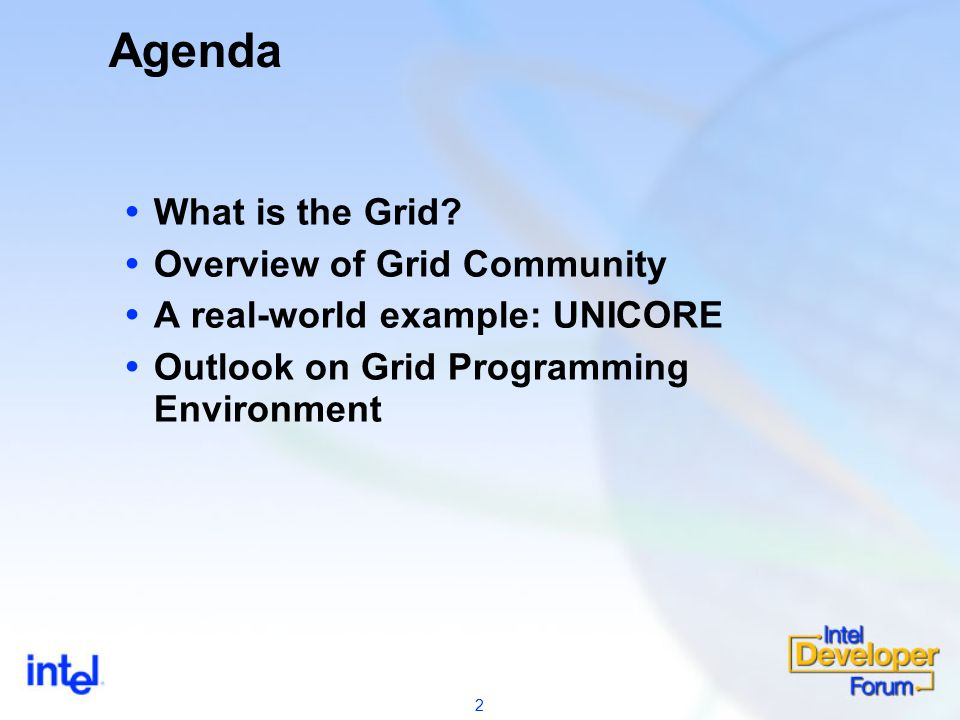 2 Agenda  What is the Grid.