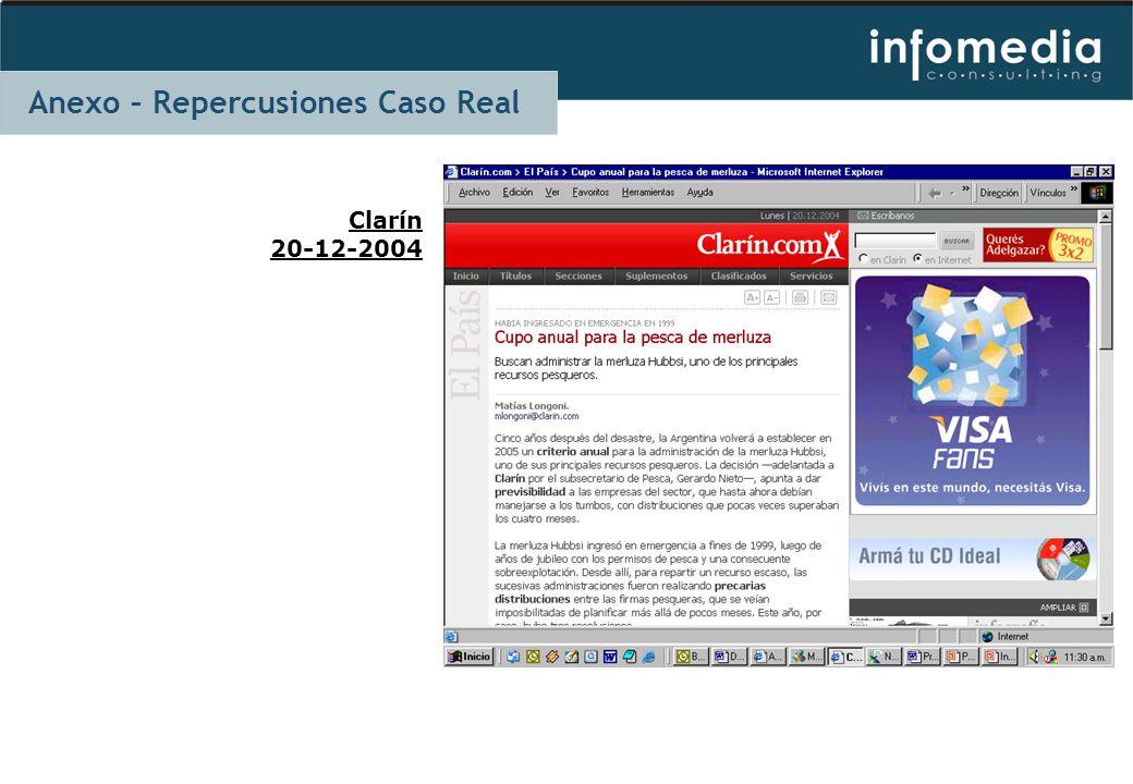 Clarín 20-12-2004 Anexo – Repercusiones Caso Real