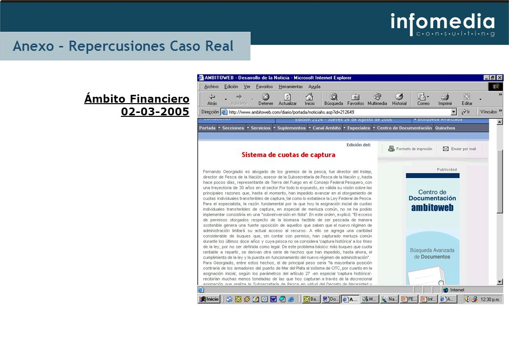 Ámbito Financiero 02-03-2005 Anexo – Repercusiones Caso Real