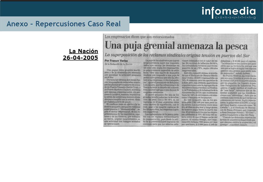 La Nación 26-04-2005 Anexo – Repercusiones Caso Real