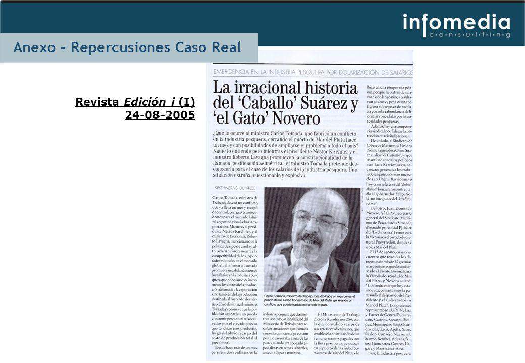 Revista Edición i (I) 24-08-2005 Anexo – Repercusiones Caso Real