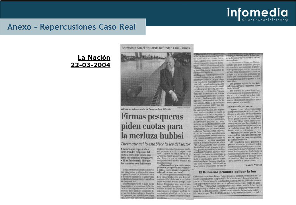 La Nación 22-03-2004 Anexo – Repercusiones Caso Real