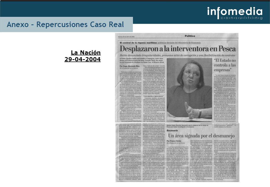 La Nación 29-04-2004 Anexo – Repercusiones Caso Real