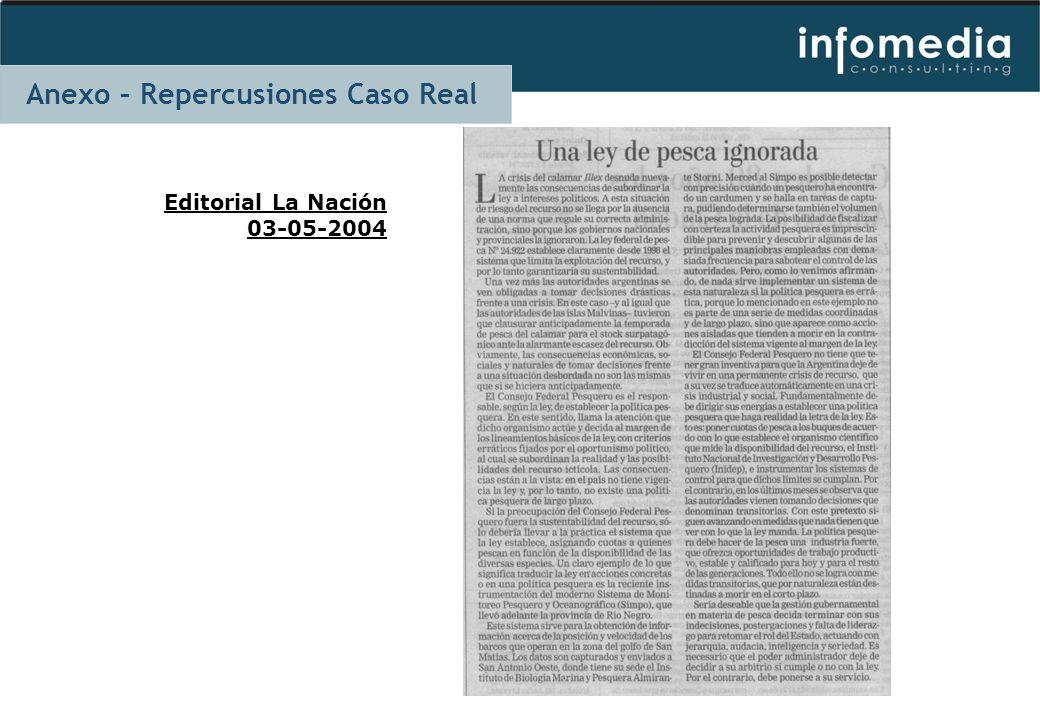 Editorial La Nación 03-05-2004 Anexo – Repercusiones Caso Real