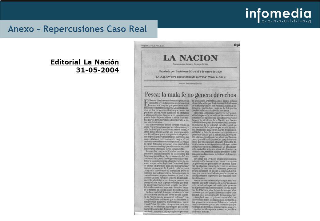 Editorial La Nación 31-05-2004 Anexo – Repercusiones Caso Real
