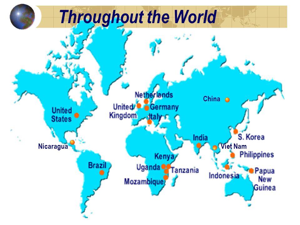 NicaraguaViet Nam China Throughout the World