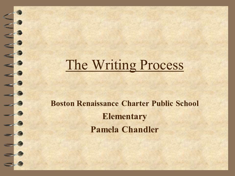 The Writing Process Boston Renaissance Charter Public School Elementary Pamela Chandler