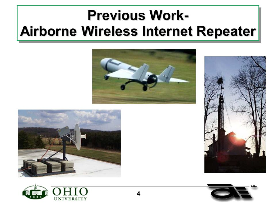 4 Previous Work- Airborne Wireless Internet Repeater