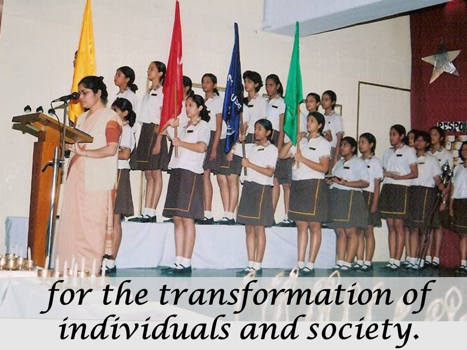 for the transformation of individuals and society.