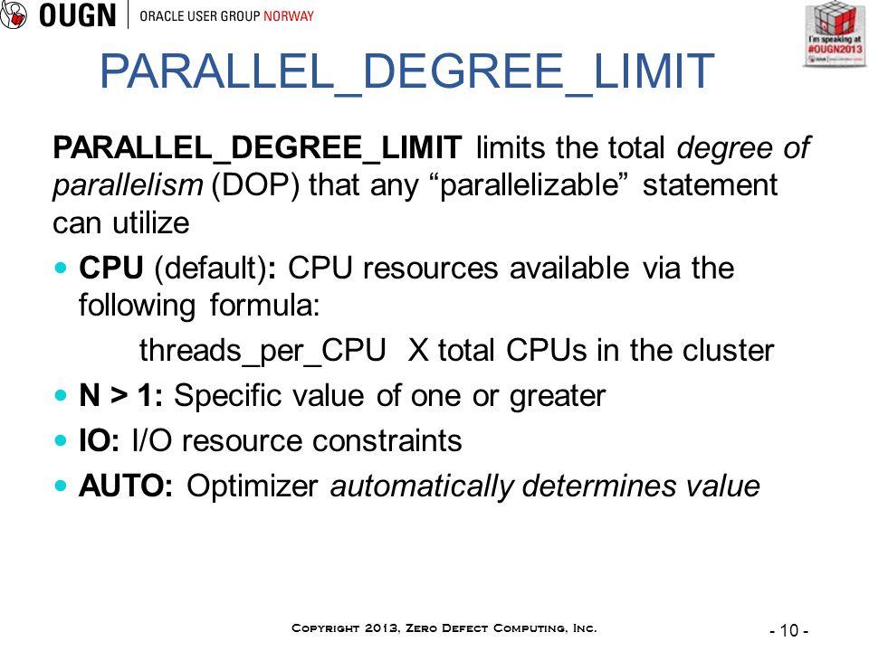 - 10 - Copyright 2013, Zero Defect Computing, Inc.