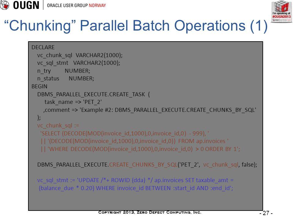 Copyright 2013, Zero Defect Computing, Inc.