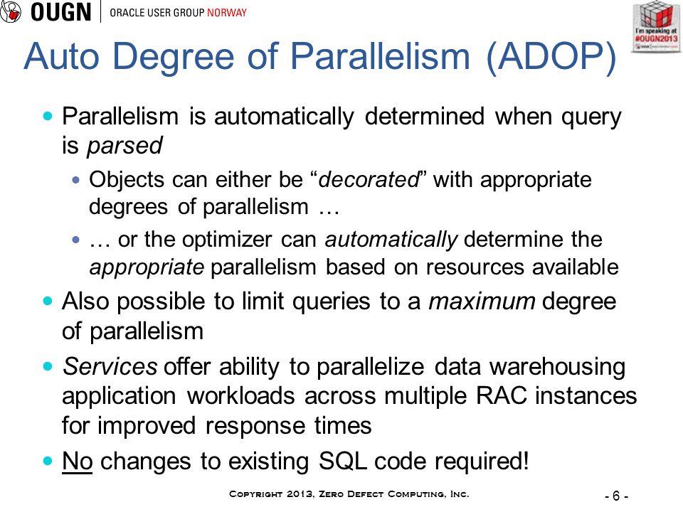 - 6 - Copyright 2013, Zero Defect Computing, Inc.