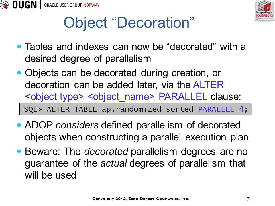 - 7 - Copyright 2013, Zero Defect Computing, Inc.