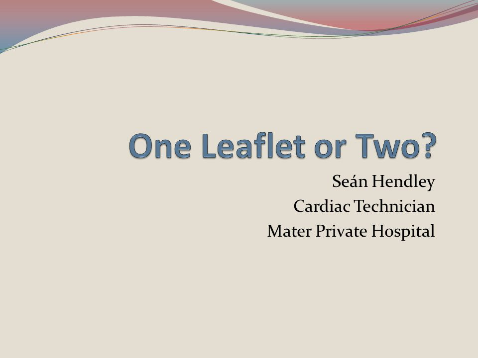 Seán Hendley Cardiac Technician Mater Private Hospital