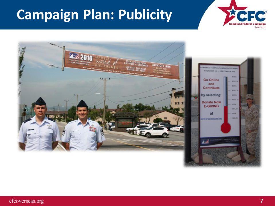7 Campaign Plan: Publicity