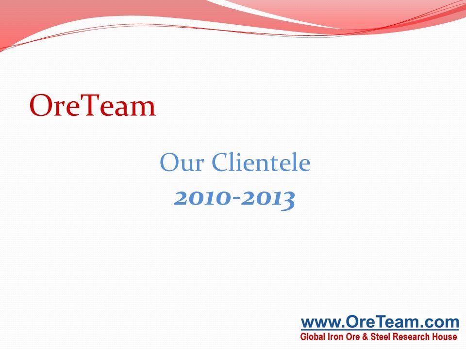 OreTeam Our Clientele 2010-2013