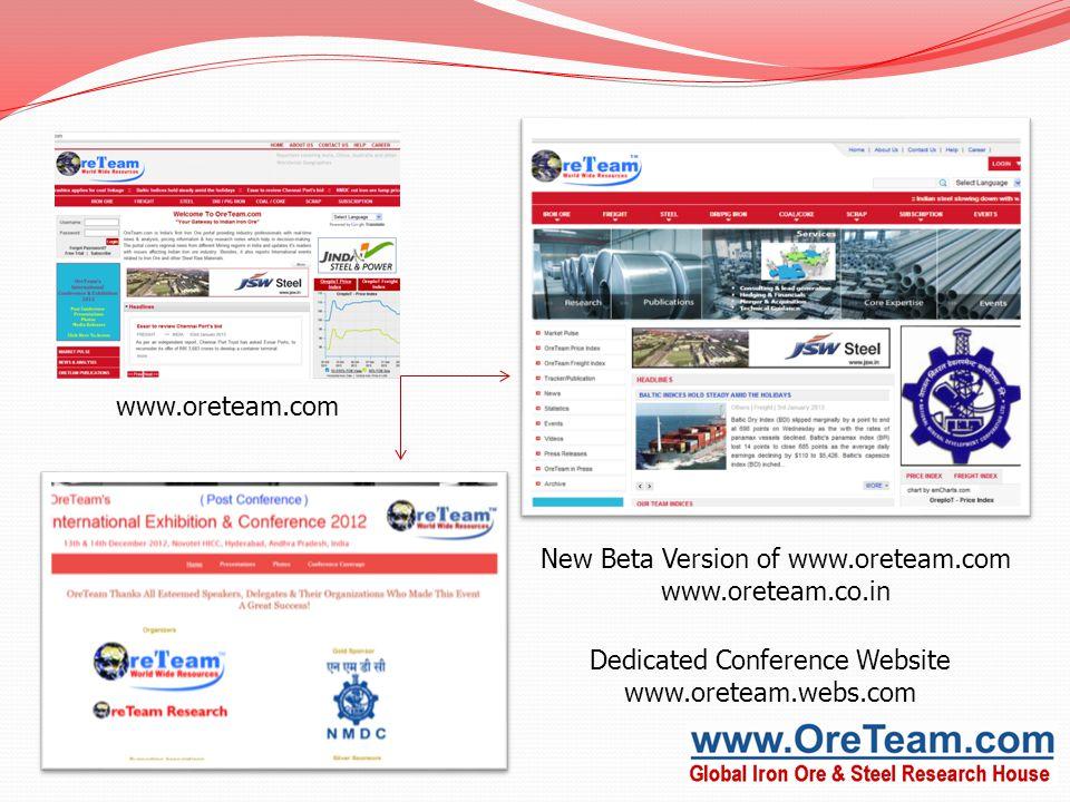 New Beta Version of www.oreteam.com www.oreteam.co.in Dedicated Conference Website www.oreteam.webs.com www.oreteam.com