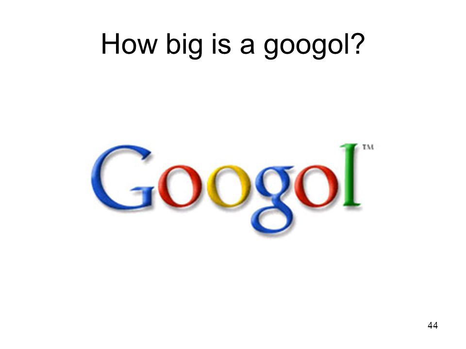 44 How big is a googol